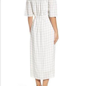 Charles Henry Shoulder white dress